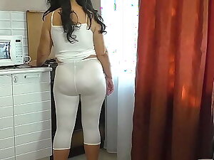 Anal sex mom and stepson at dwelling-place in the kitchen