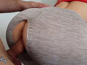 Fuck Me Hard In My Ripped Leggings And Cum On My Racy Tight Pussy