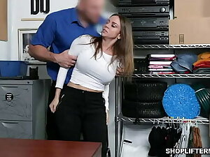 Sexy MILF Havana Bleu taught that shes an welcoming comfortable with pilfering but got caught on cctv and fucked inside the office.