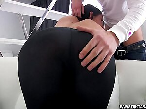 FirstAnalQuest.com - Hindquarters PORN WITH A SEXY RUSSIAN TEEN Forth TIGHT LEGGINGS