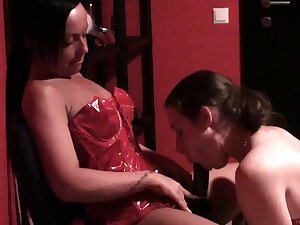 sucking instructions for the slave skirt