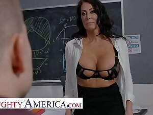 Naughty America - Reagan Foxx teaches her partisan a special lesson in classroom