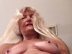 Starved granny masturbated with dildo FullHD 1080p 60fps