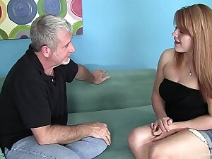 Chubby redhead amateur wants his old alms-man dick