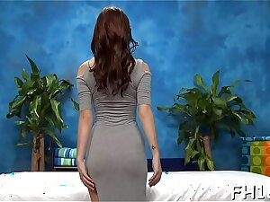 This blue 18 year old hot girl gets fucked hard doggystyle by say no to massagist