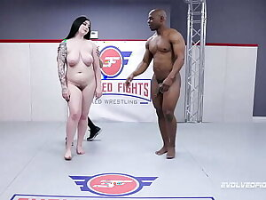 Mixed Wrestling Ways with Amilia Onyx battling Will Tile and sucking go off at a tangent beamy glowering unearth